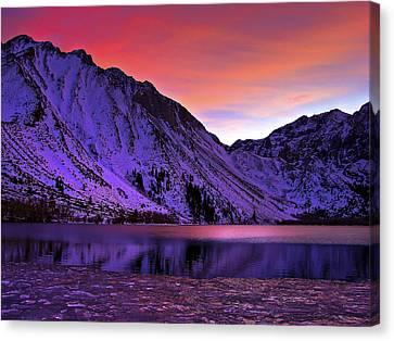 Convict Lake Sunset Canvas Print by Scott McGuire
