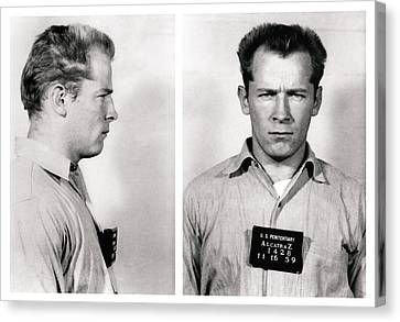 Convict No. 1428 - Whitey Bulger - Alcatraz 1959 Canvas Print by Daniel Hagerman