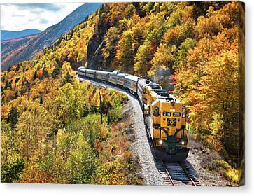 Conway Scenic Railway Fall Colors Canvas Print by Eric Gendron