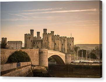 Conwy Castle Sunset Canvas Print by Christine Smart