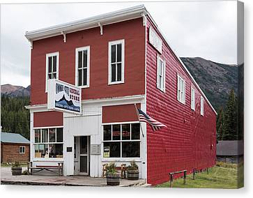 Cooke City General Store Montana Canvas Print by Steve Gadomski