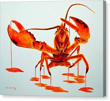 Cooked Lobster Canvas Print
