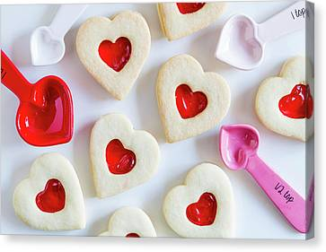 Canvas Print featuring the photograph Cookie Baking Love by Teri Virbickis
