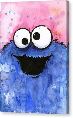 Cookie Monster Canvas Print by Olga Shvartsur