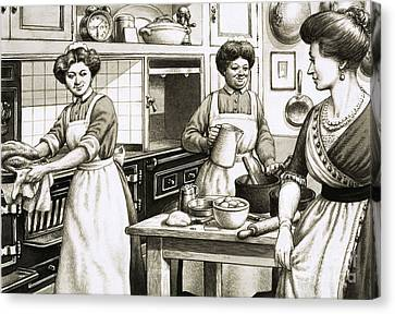 Matron Canvas Print - Cooking In Edwardian Times by Pat Nicolle