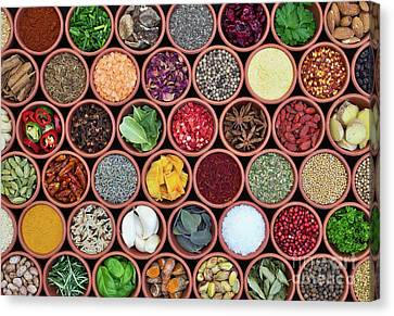 Canvas Print featuring the photograph Cooking Ingredients by Tim Gainey