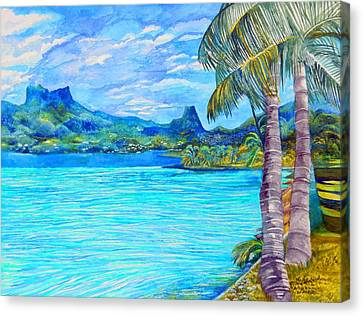 Cooks Bay Moorea Canvas Print by Kandy Cross