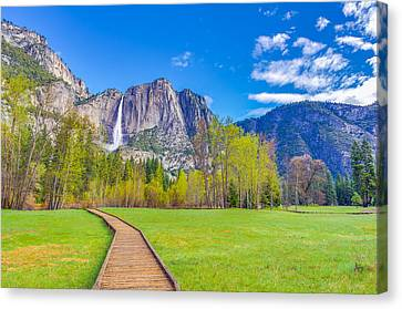Canvas Print featuring the photograph Cook's Meadow Yosemite National Park by Scott McGuire