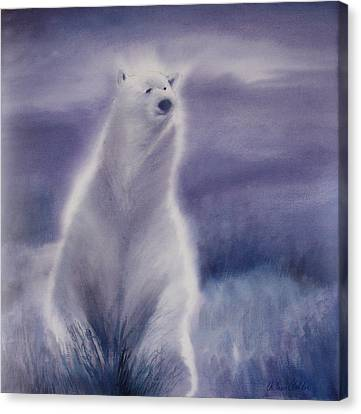 Canvas Print featuring the painting Cool Bear by Allison Ashton