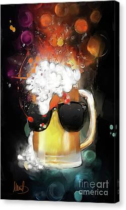 Tankard Canvas Print - Cool Beer by Melanie D