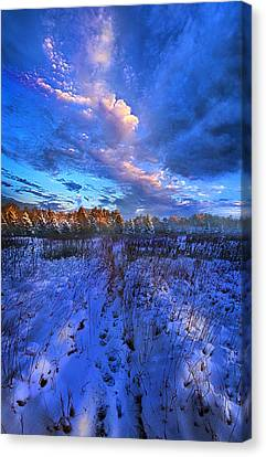 Cool Blue North Canvas Print