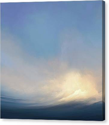 Cool Blue Wave Canvas Print