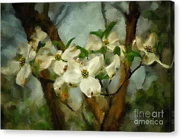Cool Breeze Painterly Canvas Print