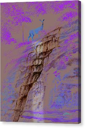 Cool Cascade Canvas Print by Harold Shull
