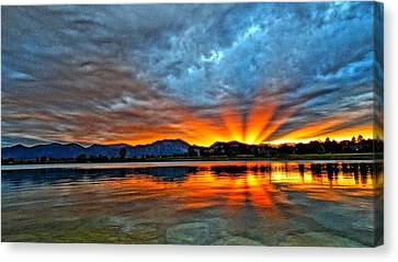 Canvas Print featuring the photograph Cool Nightfall by Eric Dee