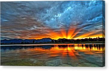 Cool Nightfall Canvas Print by Eric Dee