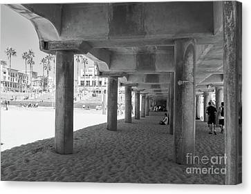 Canvas Print featuring the photograph Cool Off In The Shade Of The Pier by Ana V Ramirez