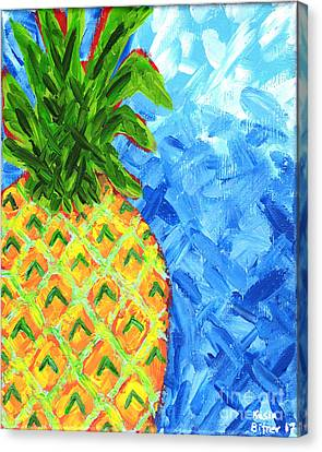 Canvas Print - Cool Pineapple by Kasia Bitner