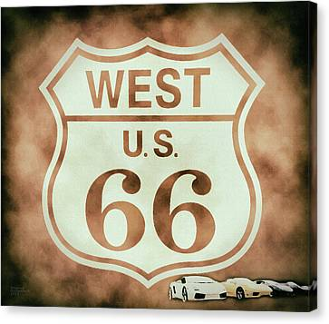 Metal Canvas Print - Cool Route 66 by David Millenheft