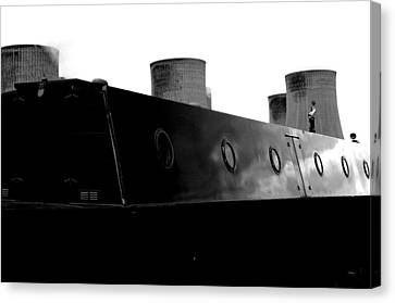 Canvas Print featuring the photograph Cooling Barge by Jez C Self