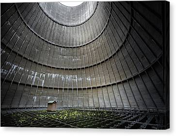 Canvas Print featuring the photograph Cooling Tower Secret Little House by Dirk Ercken