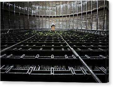 Canvas Print featuring the photograph Cooling Tower Water Distribution by Dirk Ercken