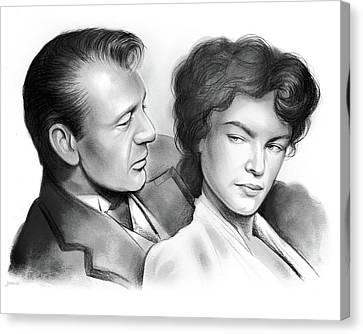 Cooper And Bacall Canvas Print
