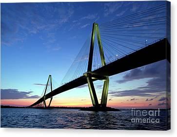 Cooper River Bridge Charleston Sc Canvas Print by Dustin K Ryan