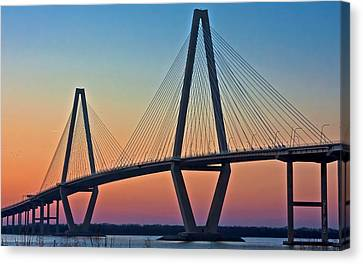 Cooper River Bridge Sunset Canvas Print