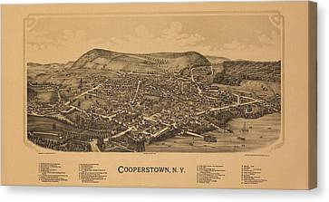Cooperstown N Y 1890 Canvas Print by Mountain Dreams