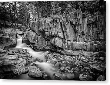 Maine Mountains Canvas Print - Coos Canyon Black And White by Rick Berk