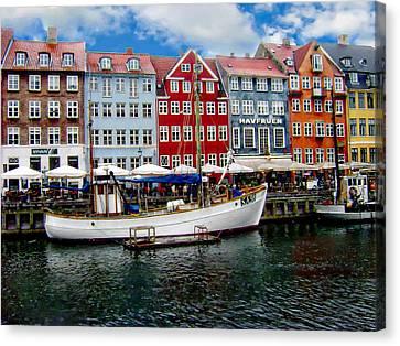 Copenhagen - Denmark Canvas Print by Anthony Dezenzio