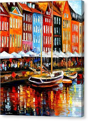 Copenhagen Denmark Canvas Print by Leonid Afremov