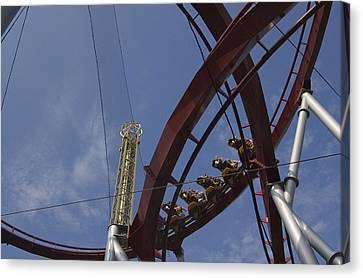 Copenhagen, Denmark, Rollercoaster Ride Canvas Print by Keenpress
