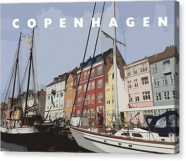 Copenhagen Memories Canvas Print by Linda Woods