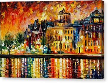 Copenhagen Original Oil Painting  Canvas Print by Leonid Afremov