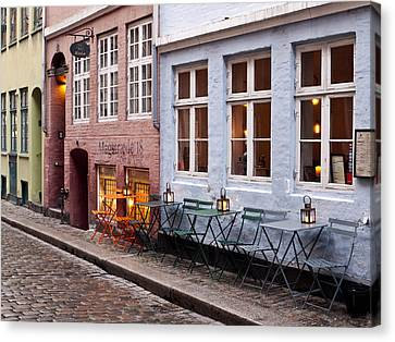 Copenhagen Patio Canvas Print by Rae Tucker