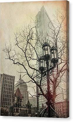 Canvas Print featuring the photograph Copley Square - Boston by Joann Vitali