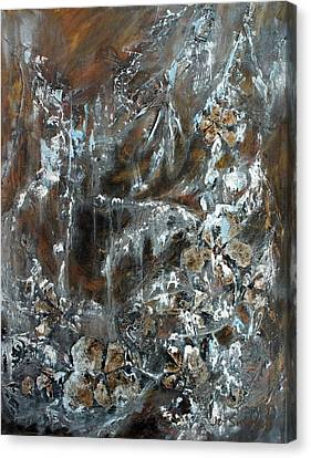 Canvas Print featuring the painting Copper And Mica by Joanne Smoley