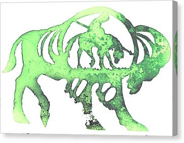 Copper Buffalo Canvas Print