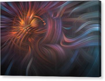 Lightning Decorations Canvas Print - Copper Flames by Debra and Dave Vanderlaan