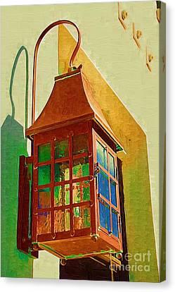Copper Lantern Canvas Print by Donna Bentley