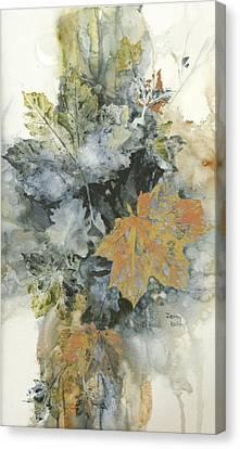 Copper Leaves Canvas Print