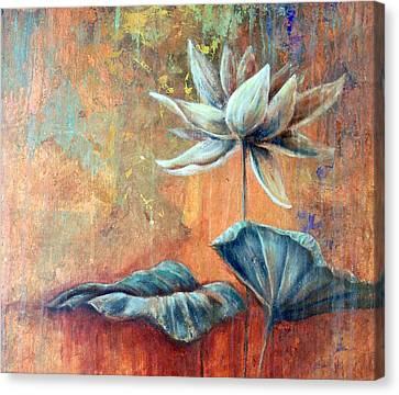 Copper Lotus Canvas Print by Ashley Kujan