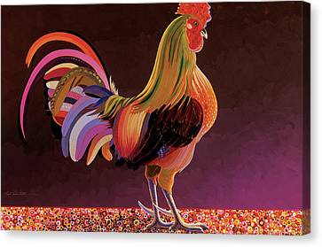 Copper Rooster Canvas Print by Bob Coonts