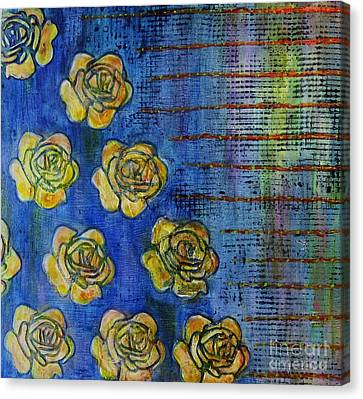 Copper Roses Canvas Print by Desiree Paquette