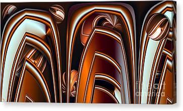 Copper Shields Canvas Print