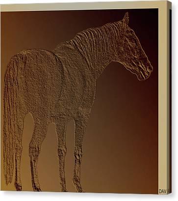 Coppertone Horse Canvas Print by Debra     Vatalaro