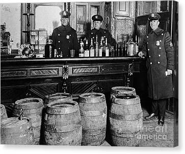 Celebrated Canvas Print - Cops At The Bar by Jon Neidert