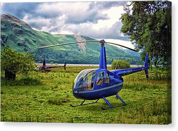Copter Canvas Print by Martin Newman